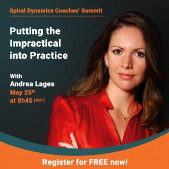 Andrea Lages en el Spiral Dynamics Coaches Summit